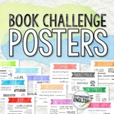 Monthly Book Challenge Posters for Middle and High School