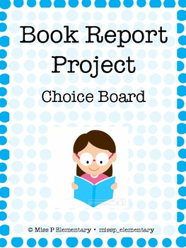 Monthly Book Project Choice Board *EDITABLE*