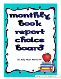 Monthly Book Report Choice Board