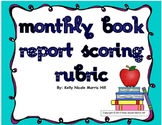 Monthly Book Report Choice Board Rubric