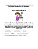 Monthly Book Report Student Choice Projects