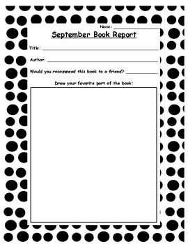Monthly Book Reports