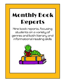 Monthly Book Reports to use with Any Books