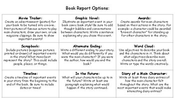 Monthly Book Reports Options