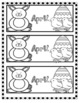 Monthly Bookmarks (colored and black and white versions)