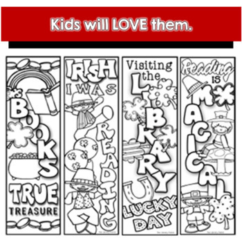 Monthly Bookmarks to Color by The Library Patch | TpT