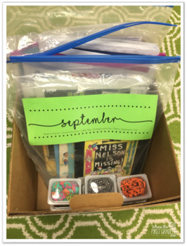 Monthly Box Labels for Teachers