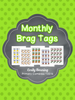 Monthly Brag Tags
