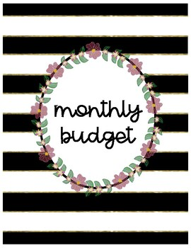 Monthly Budget Planner for Teachers {Succulent Themed}