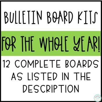 Monthly Bulletin Board Bundle #3