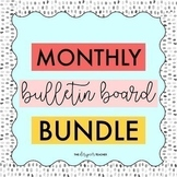 Monthly Bulletin Board Bundle | Bulletin Board Kits Bundle