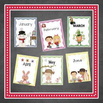 Monthly Binder COVERS / DIVIDERS in Gingham