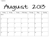 Monthly Calendar 2013-2014