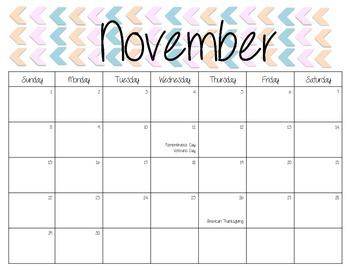 Monthly Calendar {{2015-2016}}
