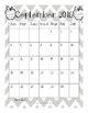 Monthly Calendar 2016-2017 Black and White