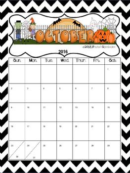 Monthly Calendar (Editable)