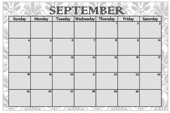 Monthly Calendar Academic Year 2016 2017