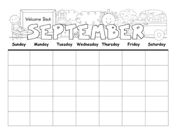 Monthly Calendar Activities