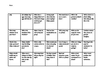 Monthly Calendar Activities