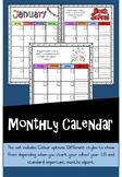 Monthly Calendar Colour {{Editable}}