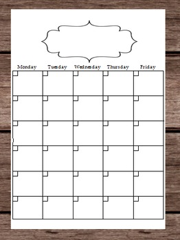 2016 Blank Calendar Schedule Lesson Plans Notes To Do List Teacher Binder