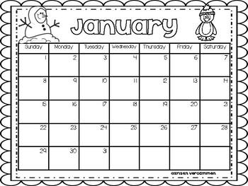 Monthly Calendar Gift