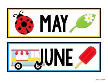 Monthly Calendar Headers