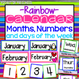 Bright, Rainbow Design Calendar Month Headers