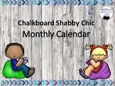 Monthly Calendar Headings Shabby/Farmhouse Chic