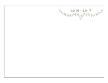 Monthly Calendar 2016-2017