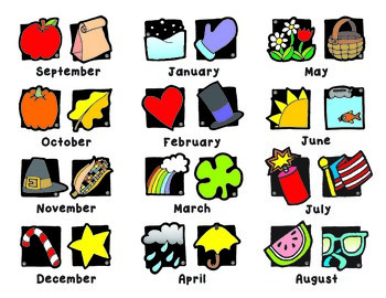 Monthly Calendar Icons