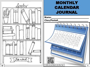 Monthly Calendar Journal 2019
