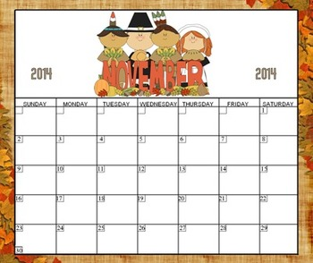 Monthly Calendar Kit (2014-2015 Year & Blanks for Other Years)