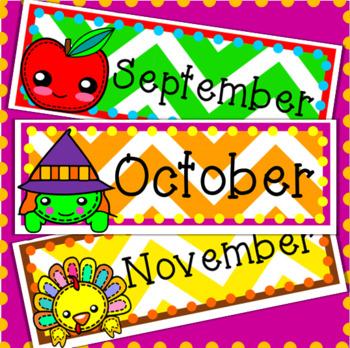 Monthly Calendar Labels