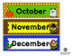 Monthly Calendar Labels - Bee Theme