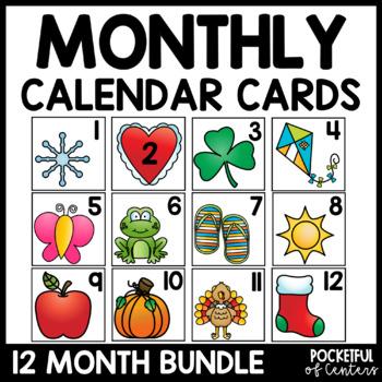Monthly Calendar Numbers - Bundle