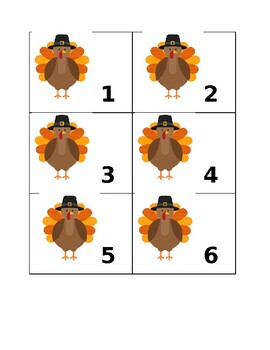 Monthly Calendar Numbers (November)