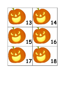 Monthly Calendar Numbers (October)