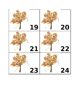 Monthly Calendar Numbers-September