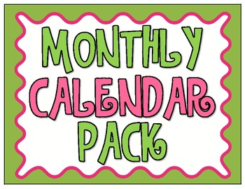 Monthly Calendar Pack