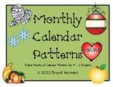 Monthly Calendar Patterns