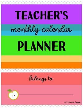 Teacher Planner (Months & More)