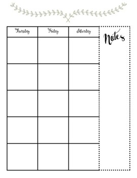 Monthly Calendar Sept 2017- August 2018