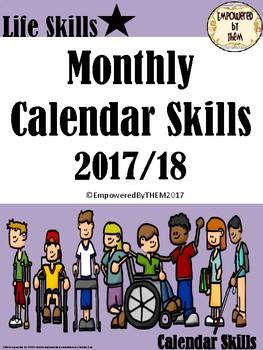 Monthly Calendar Skills 2017/18 School Year