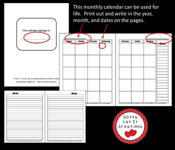 Write In Monthly Calendar