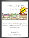 Monthly Calendar Template & more!