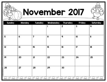 Editable Monthly Calendar Templates - Simply add your dates and information!
