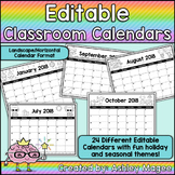 Editable Monthly Calendar Templates - Landscape - Add your dates and events!
