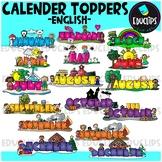 Monthly Calendar Toppers Clip Art Bundle {Educlips Clipart}