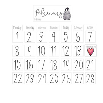 Monthly Calendar (Watercolor) - Morning Meeting - Growing bundle